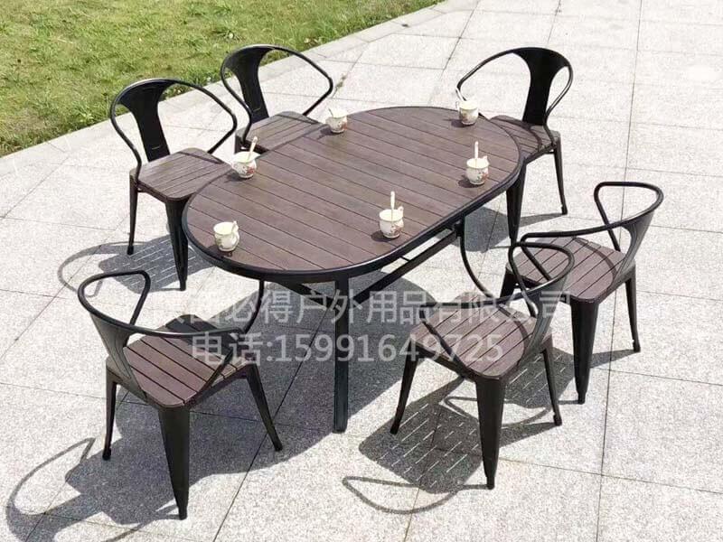 户外塑木休闲桌椅厂家